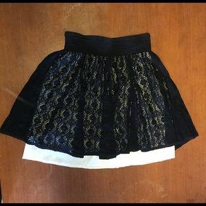 Joe Benbasset Black Lace Overlay Skirt